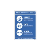 Hands Face Space Rigid Plastic 250 x 300 R/P