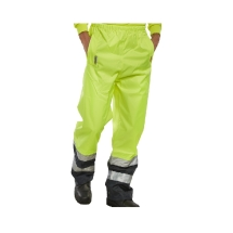 Belfry Hi Viz Over Trousers- Breathable Yellow/Navy  Large