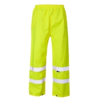 Hi Viz Over Trousers yellow size Large